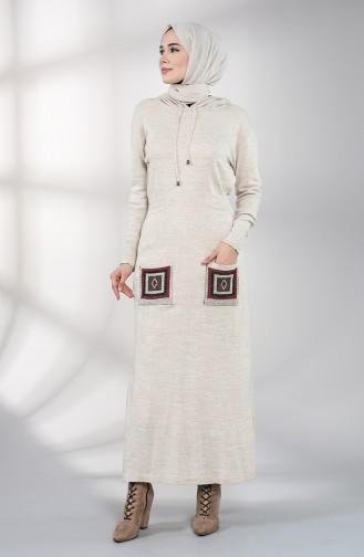 Robe Hijab Beige 6002-09