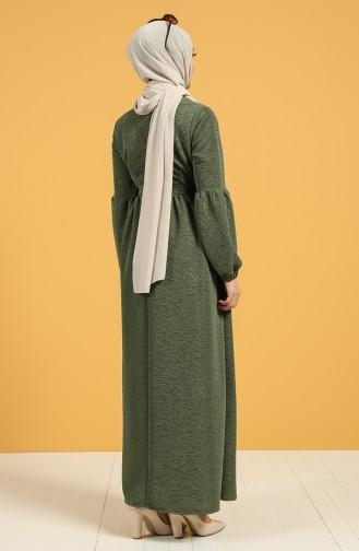 Khaki Hijap Kleider 21K8151-04