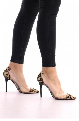 أحذية الكعب العالي بُني 00177.LEOPAR