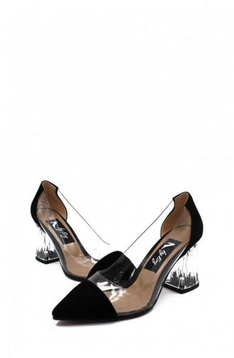 أحذية الكعب العالي أسود 00258.SIYAHSUET