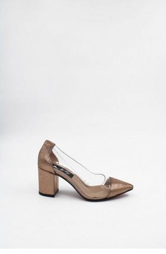 Bronze High-Heel Shoes 00176.ROZE