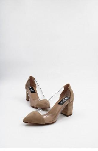Skin color Heeled Shoes 00176.TEN