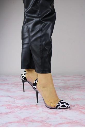 White High-Heel Shoes 00430.BEYAZ