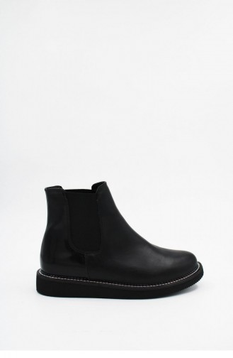 Black Boots-booties 00173.SIYAH