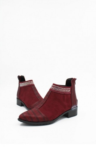 Claret Red Boots-booties 00179.BORDO
