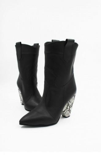 Black Boots-booties 00201.SIYAHYILAN