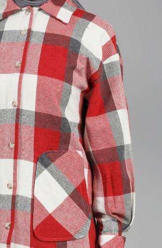 قميص أحمر كلاريت 5583-01