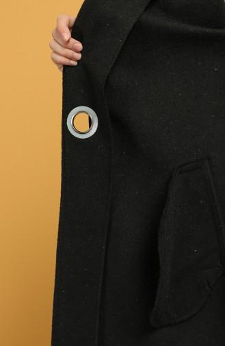 Side Tie Stamp Coat 6040-01 Black 6040-01