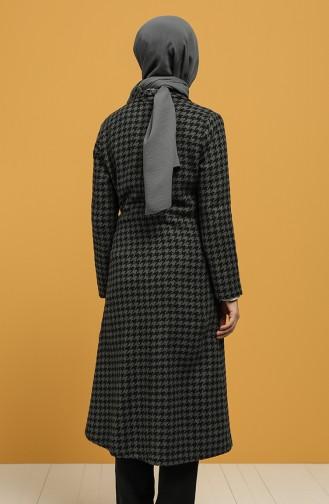 معطف طويل رمادي 6041-04
