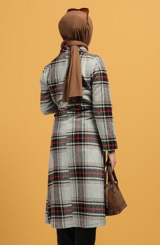 Gray Long Coat 6043-01