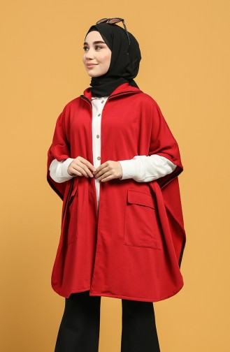 Claret red Poncho 2011-05