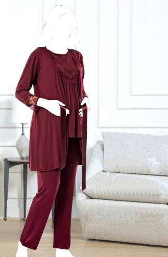 Claret red Pyjama 0483-04