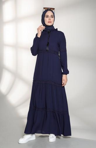 فستان أزرق كحلي 8271-01