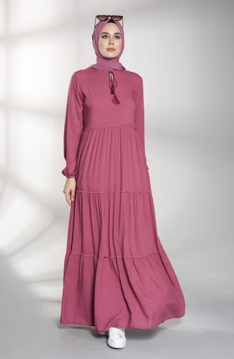 Khaki İslamitische Jurk 4556-01