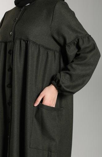 Düğmeli Cepli Elbise 21K8123A-04 Haki