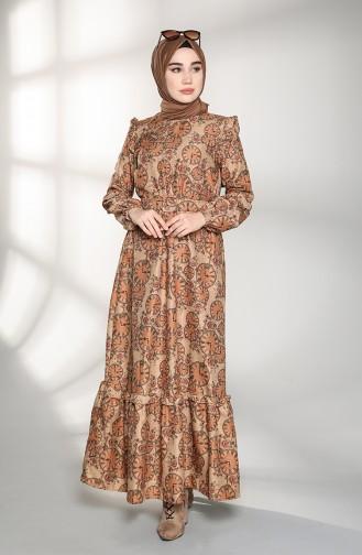 فستان عسلي 21K8167-02