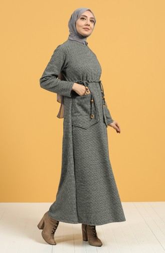 Grau Hijap Kleider 21K8170-04