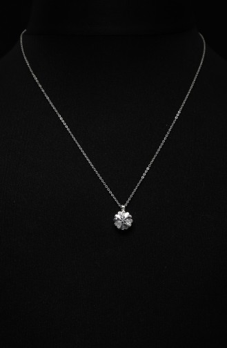 Silver Gray Necklace 302-01