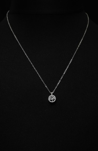 Silbergrau Kette 305-01