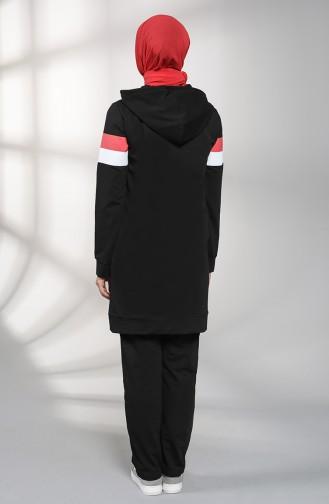 بيجامة الرياضة أسود 8077-04