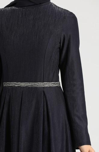 فستان أزرق كحلي 5200-01