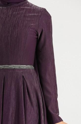 Jacquard Dress 5200-03 Purple 5200-03