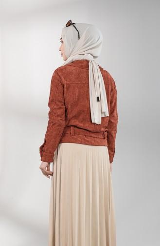 Veste Couleur brique 6208-03