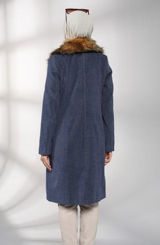 معطف طويل نيلي 1484-02