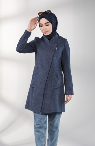 Zippered Cachet Coat 1778-03 Indigo 1778-03