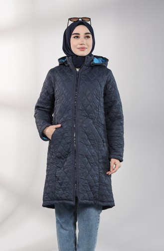 Manteau Bleu Marine 1052-02