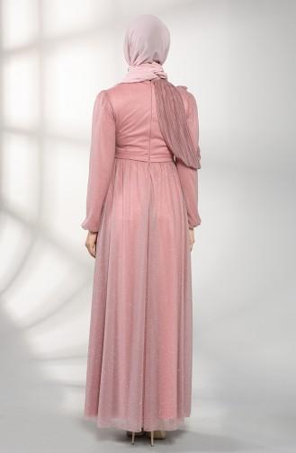 Dusty Rose İslamitische Avondjurk 1025-01