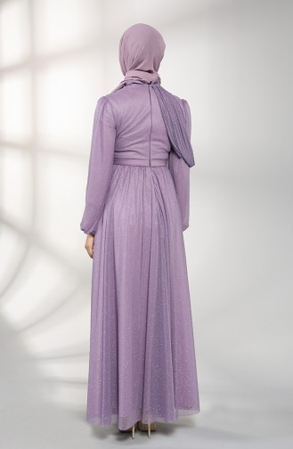 Lila Hijab-Abendkleider 1025-05
