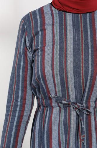 Weinrot Hijap Kleider 3213-01