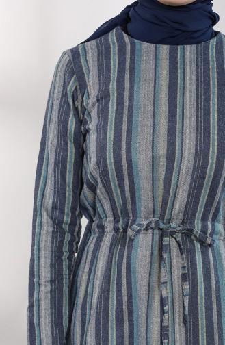 Blau Hijap Kleider 3213-03