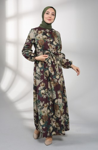Robe Hijab Pourpre 21K8174-04