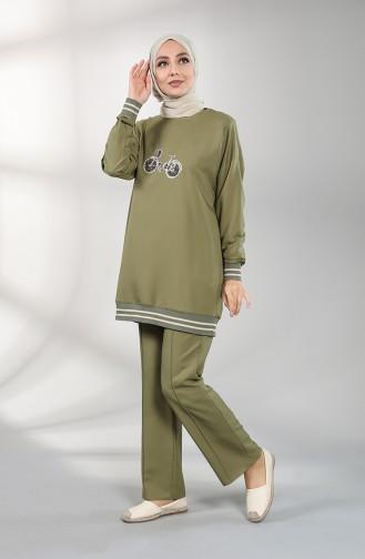 Stony Tunic Trousers Double Suit 0299-06 Khaki 0299-06