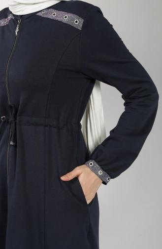 Sim Striped Cap Trousers Double Suit 1774-01 Navy Blue 1774-01