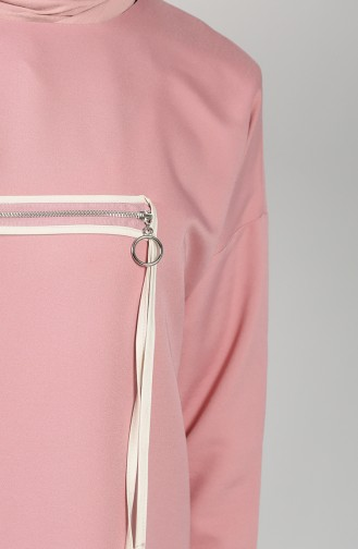 Ribbed Tunic Trousers Double Suit 0304-01 Dry Rose 0304-01