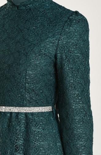 Smaragdgrün Hijab-Abendkleider 3513-01