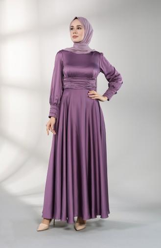 فساتين سهرة بتصميم اسلامي ليلكي داكن 4834-01