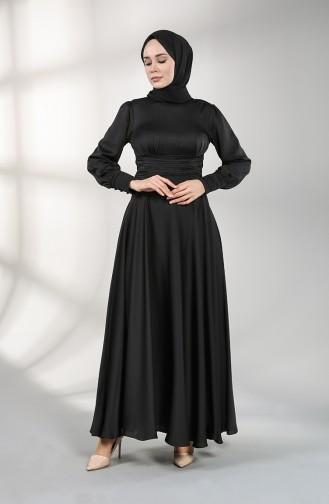 فساتين سهرة بتصميم اسلامي أسود 4834-02