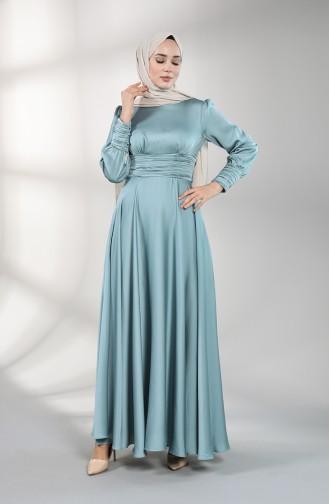 فساتين سهرة بتصميم اسلامي أخضر 4834-04