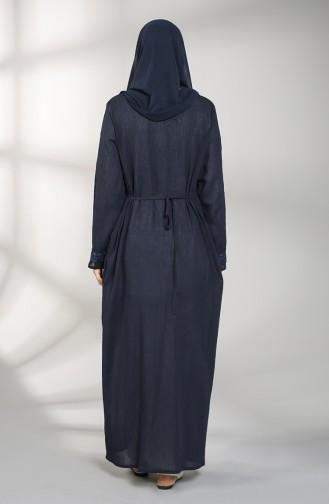 Navy Blue Abaya 9696-03