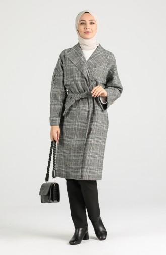 Belted Stamp Coat 0302-01 Black 0302-01