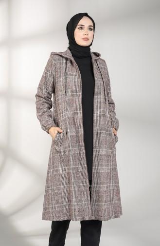 معطف طويل ارجواني داكن 0304A-01