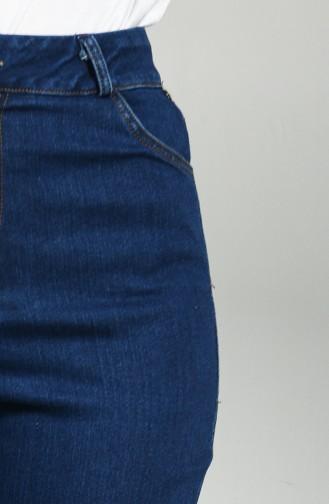 Straight Leg Jeans 7295-02 Navy Blue 7295-02