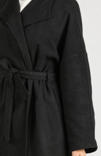 Belted Stamp Coat 0302a-02 Black 0302A-02