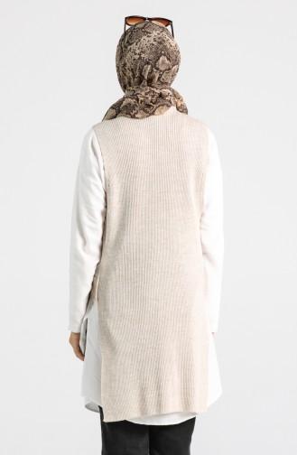 Beige Sweater Vest 9K6919200-03