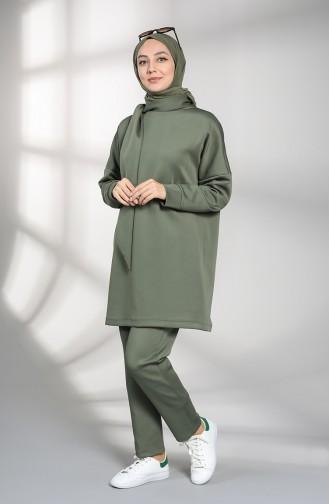 Scuba Fabric Tunic Trousers Double Suit 21008-01 Khaki 21008-01