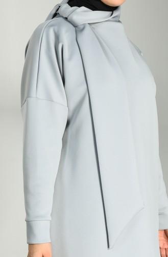 Scuba Fabric Tunic Trousers Double Suit 21008-03 Gray 21008-03